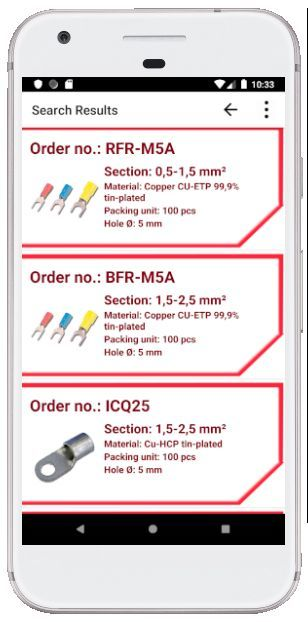 Search results on cablelugs