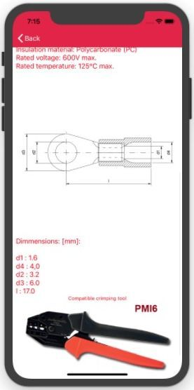 Specifications and compatible crimping tools